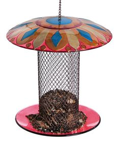 Another great find on #zulily! Floral Medallion Bird Feeder #zulilyfinds