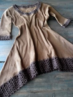 omⒶ KOPPA: virkatut REUNAT - Brown dress edging