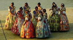 """Fallera"" dress,Valencia,Spain"