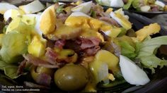 Receta: Ensalada con salsa de miel y mostaza