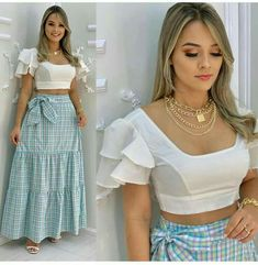 Dressy Outfits, Chic Outfits, Saree Blouse Designs, Classy Dress, Girls Jeans, Casual Looks, Waist Skirt, High Waisted Skirt, Glamour