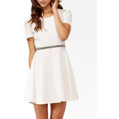 The dress is like this but without the belt, and I have a nice, navy blue cardigan over it. My dress is a bit longer too.