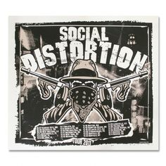 Official Social Distortion merch and music Tour Posters, Band Posters, Music Posters, Mike Ness, Social Distortion, Concert Flyer, Band Merch, Home Wall Art, Rock Music