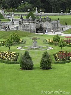 View of the formal gardens at Powerscourt, Ireland