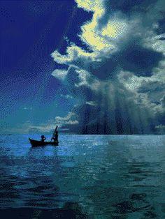 Gif Bonito, Summer Gif, Sky Gif, Sky Images, Beach Night, Good Night Gif, Amazing Gifs, Moon Pictures, Beautiful Moon