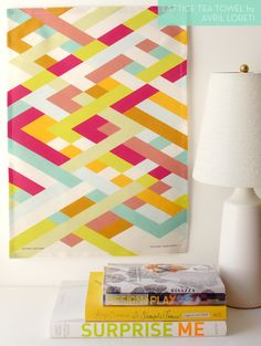 Lattice tea towel from @Avril Loreti // fabulous colors!