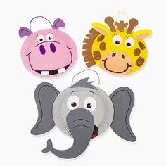 Paper Plate Zoo Animal Craft Kit - OrientalTrading.com