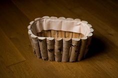 Photo prop brich round wooden bowl for newborn by nimirek on Etsy