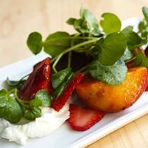 Roasted Beets and Strawberries with Yogurt and Watercress:  A salad to welcome spring if there ever was one.