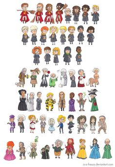 Harry Potter Characters Part 2 by batteryfish on DeviantArt Magia Harry Potter, Mundo Harry Potter, Harry Potter Food, Harry Potter Anime, Harry Potter Outfits, Harry Potter Universal, Harry Potter Fandom, Harry Potter Characters, Oliver Wood Harry Potter