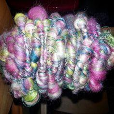 Corriedale, milk fiber  & linen thread