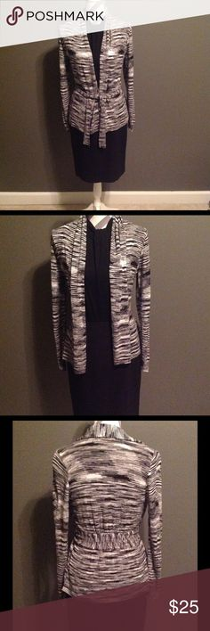 Weekend Sale- B&W Wrap Sweater size S great cond. Belldini Black & White wrap sweater with attached belt. Size small. Belldini Sweaters
