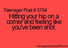 YES I do this just about everyday but it hurts just as much every time!!