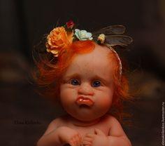"""Купить """"Птичка, птичка....невеличка"""" - белый, девочка, living doll, хлопок"""
