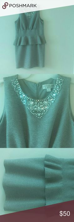Dress Silver, Sparkly, Gem Collar, Modest Jackie Jon Dresses