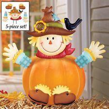 Scarecrow Pumpkin Poke-Ins Metal Statue Thanksgiving Halloween Trick or Treat