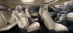 Interior of a Chevy Traverse...my next family car w/ entertainment system!!!!