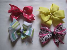How To Make Hair Bows Out Of Ribbon | Coffee & Bananas: boutique-style hair bows