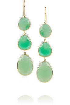 Pippa Small 18-karat gold chrysoprase drop earrings | NET-A-PORTER