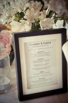 DELICIOUS Menu!! #OurWedding <3 #LoveIsInTheAir #Weddingbells english-country-garden-wedding