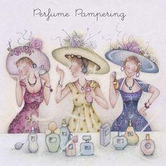 Perfume pampering , Ladies Who Love Life ... Berni Parker funny cute Berni Parker   Berni Parker -
