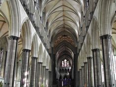 Salsbury Cathedral: one of the tallest cathedrals in England