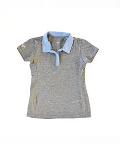 c9e17d703 Junior Girls-Golf Clothing-Polo-Gray   Light Blue-Scout Sports
