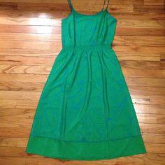 Rainforest print summer dress Small Green/Blue Ann Taylor dress. Never worn. Great for vacation! Ann Taylor Dresses