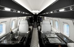Are you interested in chartering a private jet? Over the past few years, the popularity of private jet charters has increased. Many travelers don't want to wait in long airport lines or deal with o… Jets Privés De Luxe, Luxury Jets, Luxury Private Jets, Private Plane, Luxury Yachts, Avion Jet, Gulfstream G650, Sultan De Brunei, Airplane Interior