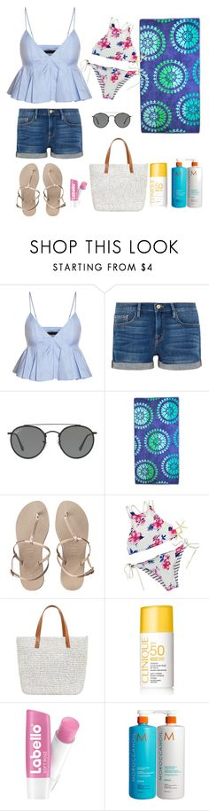 """Beach"" by osirisarambuloh on Polyvore featuring moda, Frame, Ray-Ban, Havaianas y Seafolly"