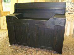 Primitive Handcrafted Sandy Ridge Dry Sink #primitivecountry