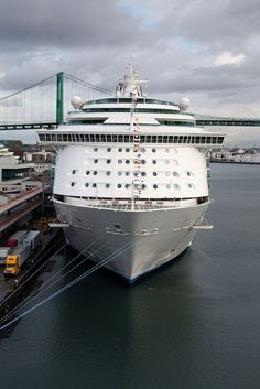 Mariner of the Seas, a Royal Caribbean cruise ship at the Los Angeles Cruise Terminal.