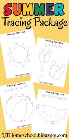 Creative Homeschool: Summer Tracing Package