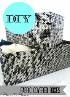 fabric covered boxes - how to - and many other great ideas on this blog