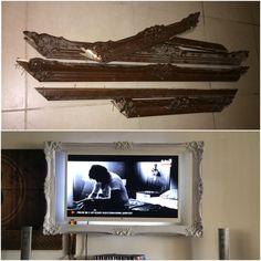 Eski atılacak bir tabloyu sihirli dokunuşlarla tv ünitesi yaptık..