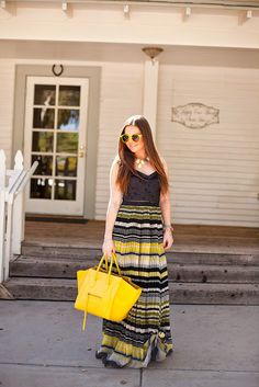 Spring-Lemonade-Yellow-Sunshine-Dress-Celine-Hair-Makeup-Sunglasses-Fashion-Style-Free People-Nordstrom-Kate Spade-Blogger-Blog