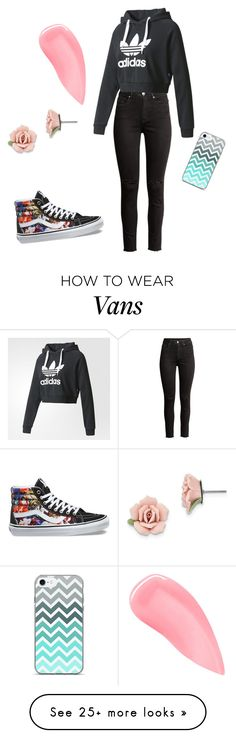 """""""Normal days"""" by loisvander on Polyvore featuring H&M, adidas, Vans, Kevyn Aucoin and 1928"""