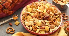 Original Chex™ Mix has been a party favorite for over 50 years. This savory snack mix is one of our most loved homemade recipes perfect for any party. Trail Mix Recipes, Chex Mix Recipes, Snack Recipes, Cooking Recipes, Gluten Free Cereal, Holiday Recipes, Food And Drink, Favorite Recipes, Party Mix