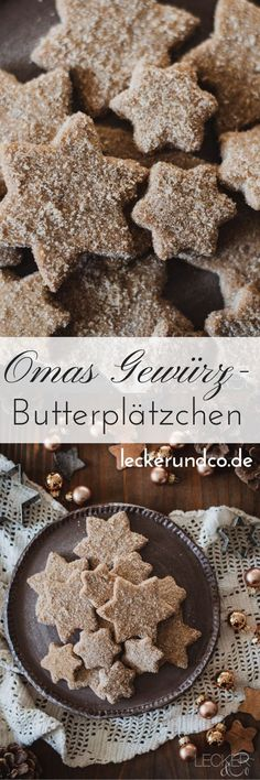 Omas Gewürzbutterplätzchen – Food And Drink Italian Cookie Recipes, Holiday Cookie Recipes, Italian Desserts, Holiday Cookies, Holiday Desserts, Pumpkin Spice Cupcakes, Ice Cream Recipes, Cake Cookies, Scones