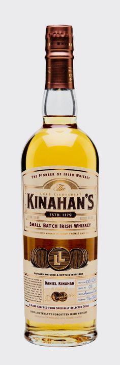 KINAHAN'S BLENDED IRISH WHISKEY, Ireland Whisky Club, Whiskey Quotes, Liqueurs, Irish Recipes, Scotch Whisky, Bad Habits, Jack Daniels, Distillery, Cellar