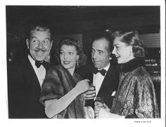 Loretta Young and her husband Tom Louis with Bogie and Bacall
