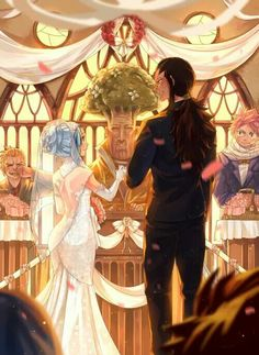 Blanania.tumblr. LevyXGajeel wedding love that Warrod is there ❤