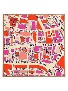Paris Map by DENY Designs at Gilt