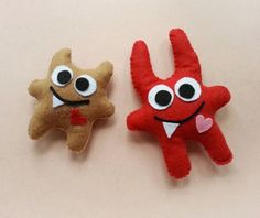 A fun project for kids this Halloween. Make these cute and cuddly felt monsters that they will love!