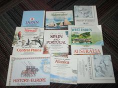 LOT OF 11 VINTAGE NATIONAL GEOGRAPHIC MAPS FROM 1980'S COUNTRY, HISTORY, GUC