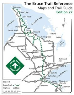 The 2014 Bruce Trail reference : trail guide and maps : a comprehensive guide of the Bruce Trail from Queenston Heights to Tobermory Oakville Ontario, Thru Hiking, Lake Huron, Richmond Hill, Day Hike, Trail, Map, Backpacking, Chapters Indigo