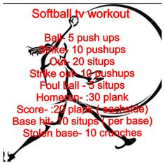 Softball workout for core and upper body