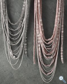 Chan Luu Tulle and Sequin Necklace