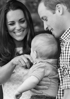 Duchess Kate with her husband Prince William and their son baby Prince George