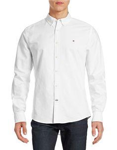 TOMMY HILFIGER TOMMY HILFIGERNew England Solid Sport Shirt. #tommyhilfiger #cloth #